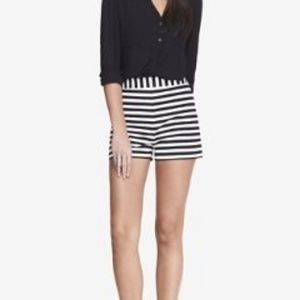 NWT  Express High Waisted Striped Shorts